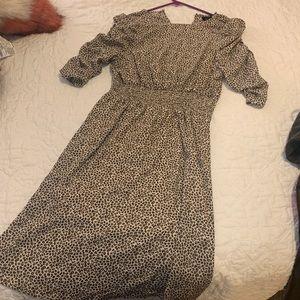 NWT bobeau leopard midi dress